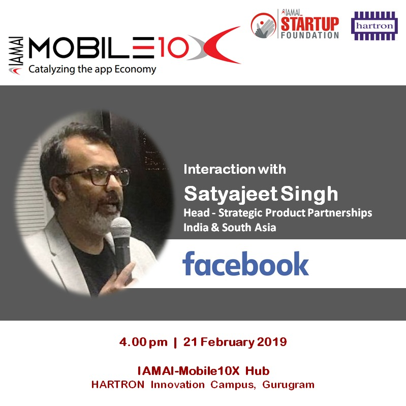 Startup Mentoring : Hours with Mr Satyajeet Singh, Facebook